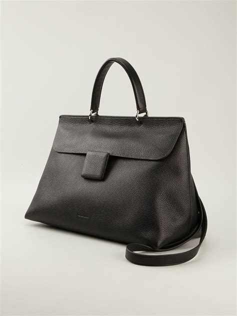 Jil Sander 2007 Bags by Jil Sander Large J Tote Bag In Black Lyst