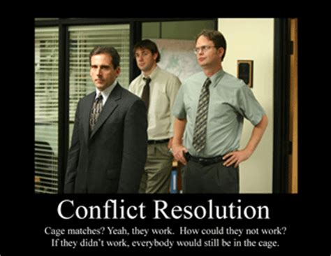 Conflict Resolution The Office by Personal Perspectives Being A College Student In The Real
