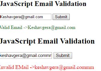 regex validate email address in javascript stack overflow validate email address textbox using javascript stack