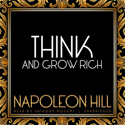 think and grow rich audiobook by napoleon hill read by anthony rogers for just 5 95