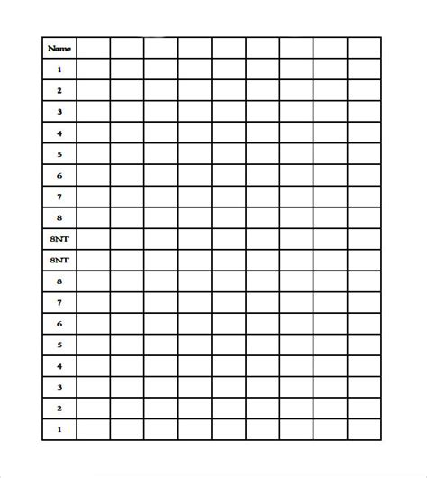 bridge score sheet template 10 sle bridge score sheets sle templates
