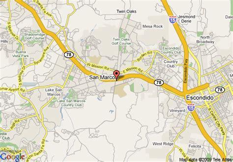 san marcos ca map map of hton inn san marcos san marcos