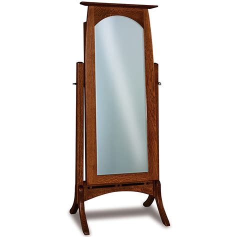 Discounted Kitchen Islands by Amish Free Standing Long Cheval Beveled Mirror Handcrafted