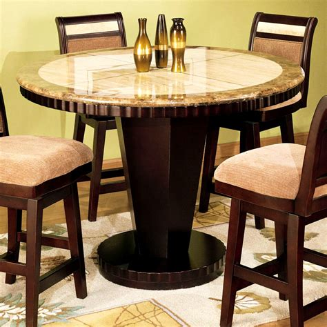 Bedroom Tasty Round Bar Height Table And Chairs Dining Dining Room Set High Tables