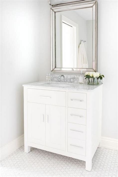 bathroom vanity with off center sink white single washstand with off centered sink and faucet