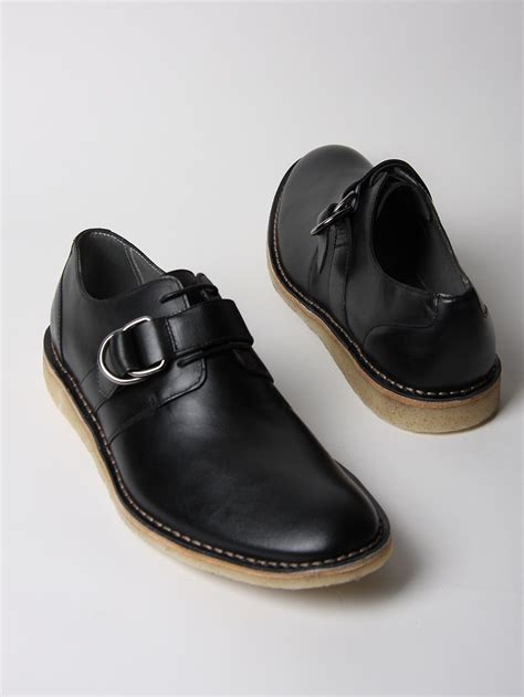 mens buckle shoes marc mens derby buckle shoes in black for lyst