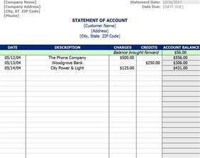 statement template statement of account template statement of account