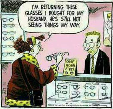 Double Blind Book Very Funny Cartoon Optical Humor Optician Marriage