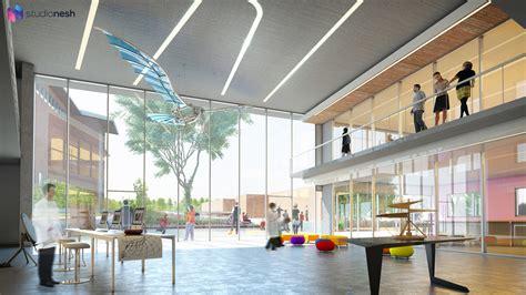 Modern Lobby Studionesh Bedford Modern New Wing