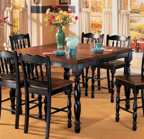 Black Kitchen Table by Butterfly Leaf Counter Height Table Black Cherry Stain