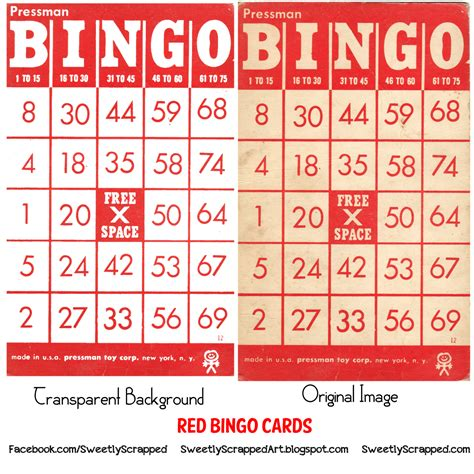 Bingo Card Template Png by Sweetly Scrapped Free Vintage Clipart Bingo Cards