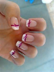 francuski manicure wzorki na paznokcie