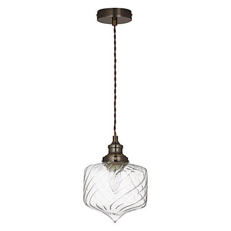 buy lewis romilly twisted glass pendant ceiling light