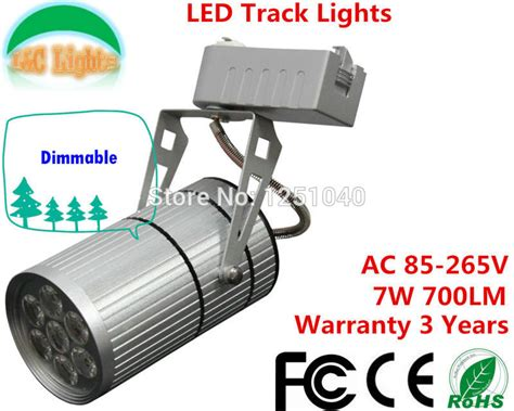 enough power 7w 700lm bridgelux chip dimmable led track lights showcase led spot light track