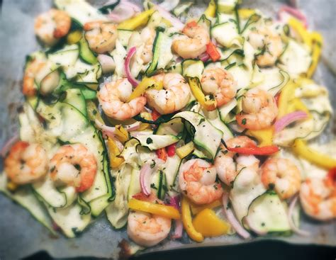 carbohydrates zucchini low carb zucchini linguini with prawns