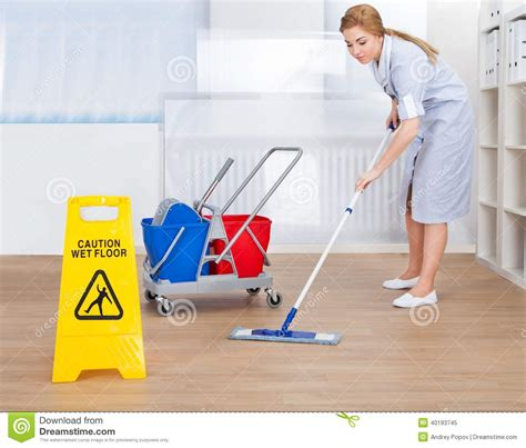 Free Modern House Plans happy maid cleaning floor with mop stock photo image