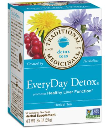 Detox Fast Cleanse 212 by Traditional Medicinals Every Day Detox 16 Tea Bags