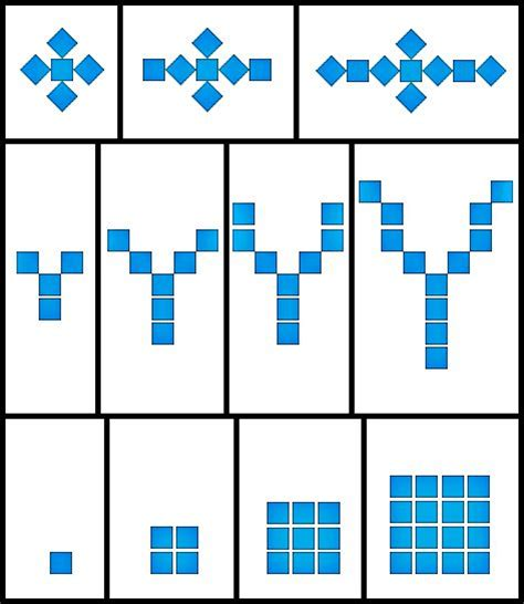 increasing pattern worksheet growing patterns math pinterest