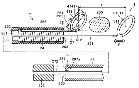 foreign matter patent us20050171566 wire for removing foreign matter in