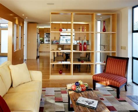 view in gallery room divider cork wall kitchen and