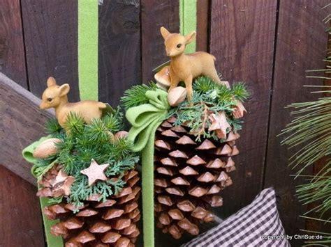 Dawanda Fensterdeko Weihnachten by Weihnachtsdeko Fensterdeko Tannenzapfen Rehkitz Ein