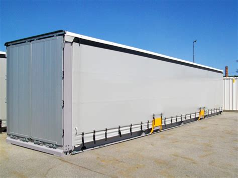curtain sided container 13 60 m 45ft steel van curtain side swap body sicom