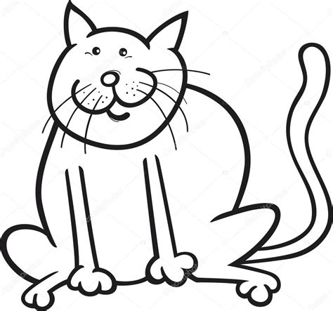 funny cat coloring page stock vector 169 izakowski 8359072