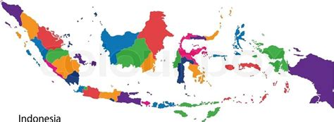 Colour Of Indonesia map of administrative divisions of indonesia stock
