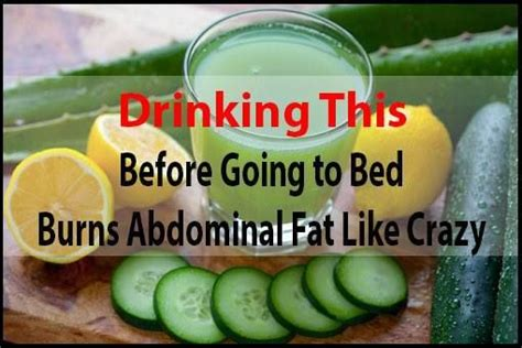 fat burning drinks before bed drinking this before going to bed burns abdominal fat like