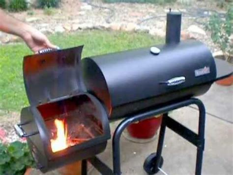 Rancher Home Plans junior charbroil offset smoker youtube