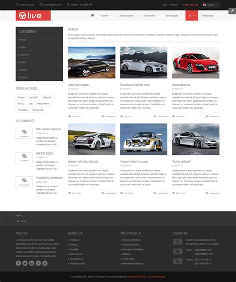 joomla classifieds template sj live responsive classified joomla template by