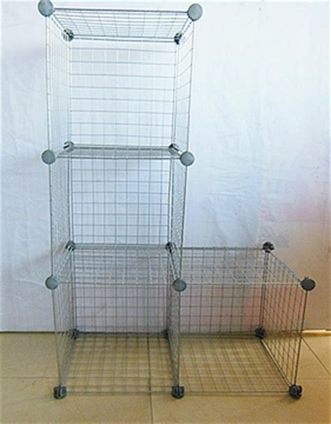 Stack And Rack Storage Cubes by 1set X 4 Silver Gray Stacking Wire Cube Storage Rack Dis