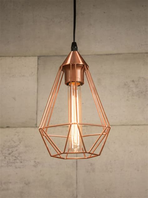 copper wire light fixture best 25 cage pendant light ideas on hanging
