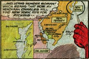 us map dc universe gotham city in new jersey metropolis in delaware