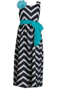 Bonnie jean little girls black white chevron maxi dress