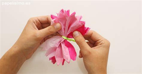 floreros para una flor c 243 mo hacer flor de papel de seda papelisimo