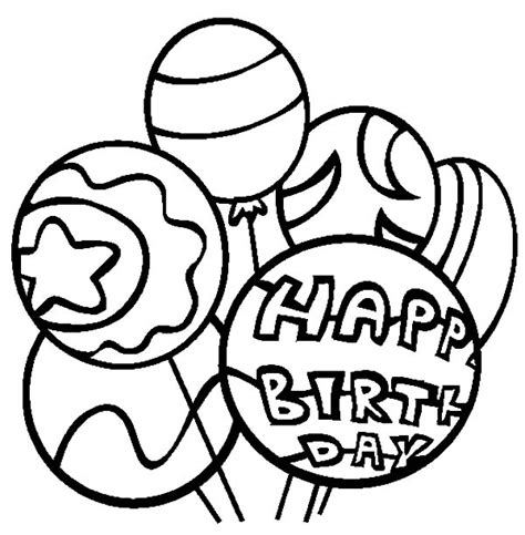 coloring pictures of birthday balloons birthday party balloons coloring pages birthday party