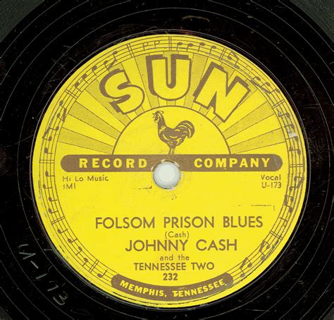 Prison Records Popsike Johnny Folsom Prison Blues Sun Records 78rpm Vg Auction Details