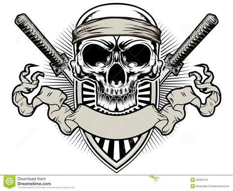 skull samurai royalty free stock image image 36409116
