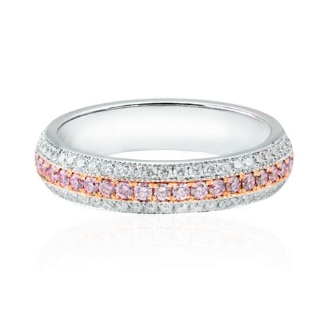 pink pave wedding ring