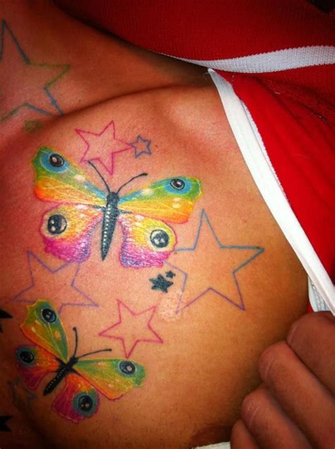 colorful butterfly tattoos colorful butterfly tattoos