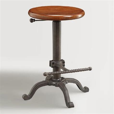 wood and metal ezra adjustable stool world market