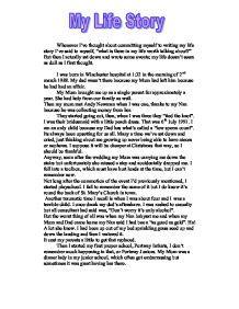 Childhood Story Essay by My Story Gcse Marked By Teachers