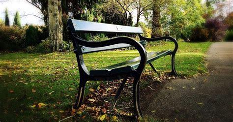 unique park benches these memorial park bench signs have a unique humour all
