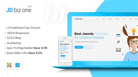 Best Responsive Free Joomla 3 8 Templates 2018 All Template Reviews Joomla One Page Template Free