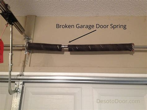 broken spring garage door cost