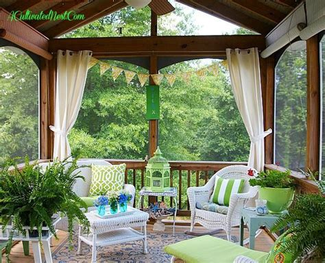 screened in porch decor screened porch decorating ideas outdoor spaces pinterest