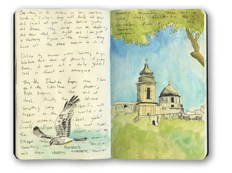 This Is A Sketch Of A Church In Erice Sicily Italy From