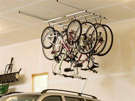 Garage Ceiling Bike Rack by Garage Ceiling Storage Bike Racks For Garage Walls Bike