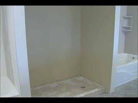 How To Install Cultured Marble Shower Pan by Cultured Marble Shower Stall Installation Step 1